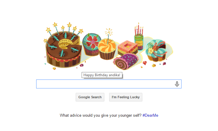 Happy Birthday, from Google!