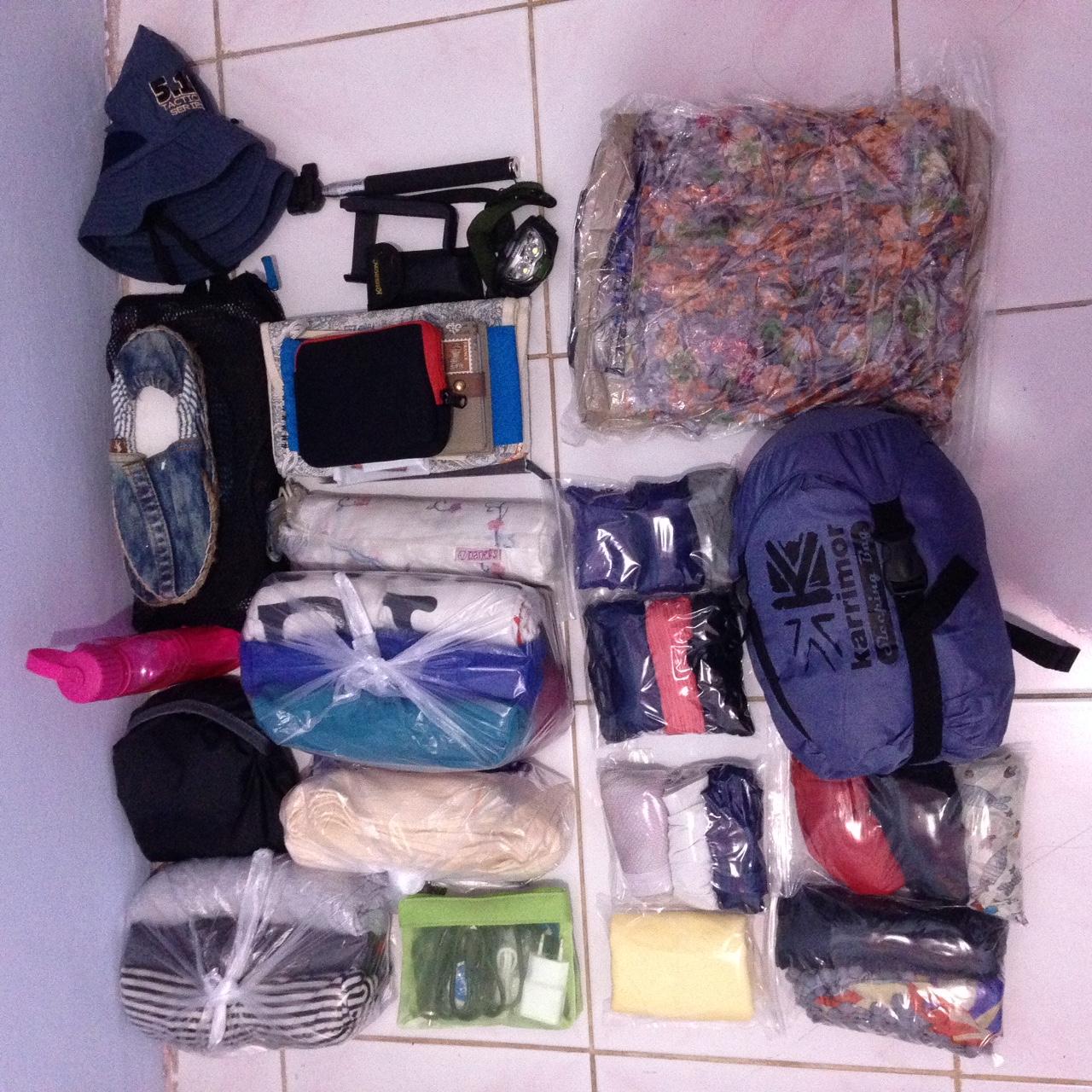 Packing Buat Dua Bulan Perjalanan