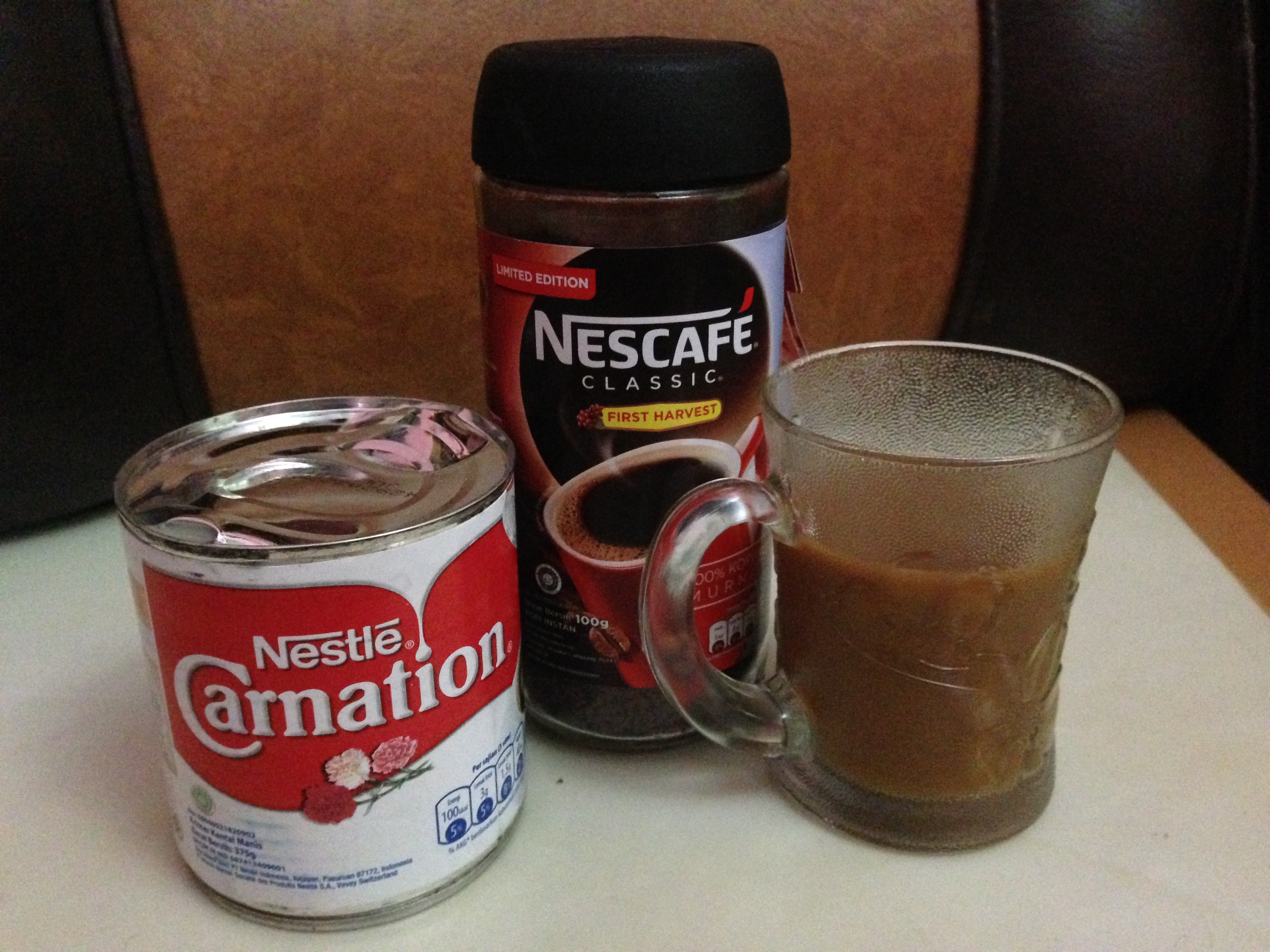 Nescafe Classic First Harvest + Carnation
